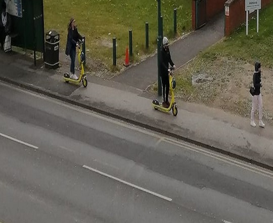 e scooters and cycling on the pavement