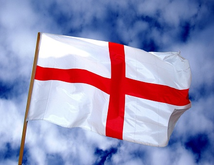 Three lions, Englands flag and St George